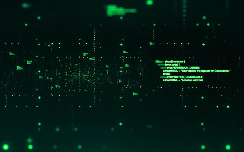 Imagem representando dados flutuando na tela